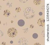 vector petite indian floral... | Shutterstock .eps vector #1235434276