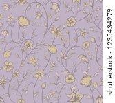 vector petite indian floral... | Shutterstock .eps vector #1235434279