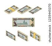 uae dirham banknote vector... | Shutterstock .eps vector #1235445370