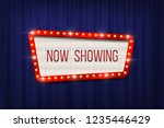 retro cinema announcement board ... | Shutterstock .eps vector #1235446429
