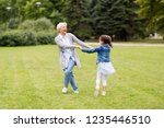 family  leisure and people... | Shutterstock . vector #1235446510