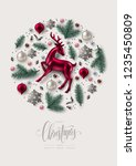 round christmas composition... | Shutterstock .eps vector #1235450809