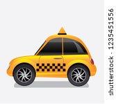 taxi cab icon. eps10 vector... | Shutterstock .eps vector #1235451556