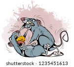 vector illustration of rats...   Shutterstock .eps vector #1235451613