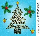 calligraphy lettering in... | Shutterstock . vector #1235453683