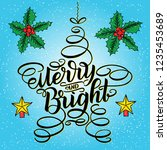 merry and bright new year... | Shutterstock . vector #1235453689