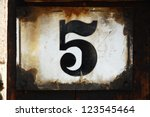 Number Five Plate