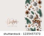 christmas decorative border... | Shutterstock .eps vector #1235457373