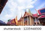 wat phar keaw in bangkok ... | Shutterstock . vector #1235468500