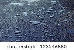water drops after heavy rain in ...