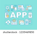 mobile app word concepts banner.... | Shutterstock .eps vector #1235469850