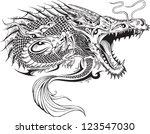 dragon doodle sketch tattoo...