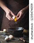 professional chef hands are...   Shutterstock . vector #1235474059