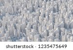 3d abstract city rendered with... | Shutterstock . vector #1235475649