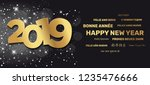 2019 greeting card   happy new... | Shutterstock .eps vector #1235476666