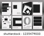 brochure layout template flyer... | Shutterstock .eps vector #1235479033