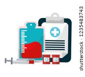 isolated blood donation design | Shutterstock .eps vector #1235483743