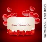 a note for valentines on a... | Shutterstock .eps vector #123548584