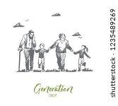 grandmother  grandfather ... | Shutterstock .eps vector #1235489269