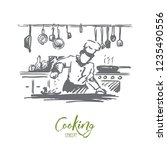 cooking  chef  food  meal...   Shutterstock .eps vector #1235490556
