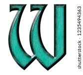 Teal Color Wooden Letter W In A ...