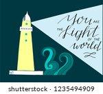 hand lettering you the light of ... | Shutterstock .eps vector #1235494909