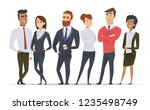 business team. professional... | Shutterstock .eps vector #1235498749