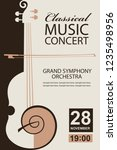 classical music concert poster... | Shutterstock .eps vector #1235498956