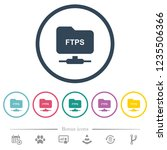ftp over ssl flat color icons... | Shutterstock .eps vector #1235506366