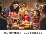 merry christmas  happy family... | Shutterstock . vector #1235506513