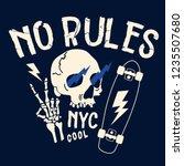 no rules typography. skeleton...   Shutterstock .eps vector #1235507680