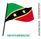 saint kitts and nevis flag... | Shutterstock .eps vector #1235509519