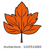 dry leaf icon  | Shutterstock .eps vector #1235513083