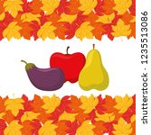 eggplant and fruits design | Shutterstock .eps vector #1235513086
