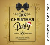 christmas party poster design... | Shutterstock .eps vector #1235529046