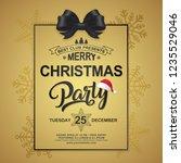 christmas party poster design... | Shutterstock .eps vector #1235529046