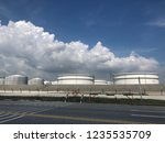 oil refinery image from iphone | Shutterstock . vector #1235535709
