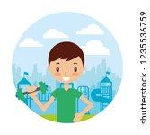 kid good habits    Shutterstock .eps vector #1235536759