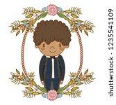 fiance male cute cartoon | Shutterstock .eps vector #1235541109