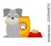 domestic dog with food | Shutterstock .eps vector #1235544973