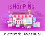 modern flat design concept of... | Shutterstock .eps vector #1235548753
