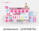 modern flat design concept of e ... | Shutterstock .eps vector #1235548756