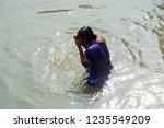 kolkata  india 16 january 2018  ... | Shutterstock . vector #1235549209