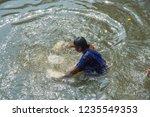 kolkata  india 16 january 2018  ... | Shutterstock . vector #1235549353