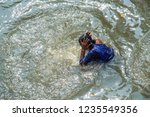 kolkata  india 16 january 2018  ... | Shutterstock . vector #1235549356