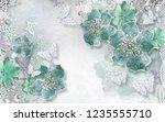3d wallpaper design with...   Shutterstock . vector #1235555710