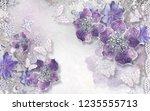 3d wallpaper design with... | Shutterstock . vector #1235555713