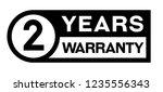 2 year warranty stamp on white... | Shutterstock . vector #1235556343