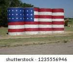 Hay Bale Flag Waldo Ks.