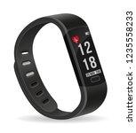 digital smart fitness watch...   Shutterstock .eps vector #1235558233